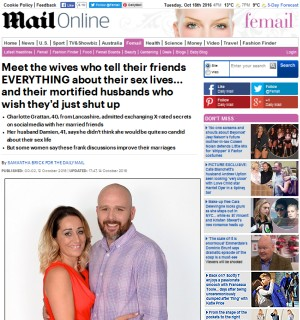 Meet the wives who tell their friends everything